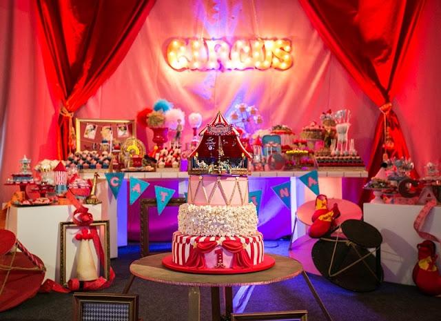 Diy Mini Carrinho de Pipoca de Papel Para Aniversário Infantil com Tema de Circo