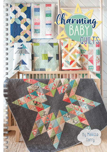 Charming Baby Quilts book by Melissa Corry with Fat Quarter Shop - charm pack friendly baby quilt patterns