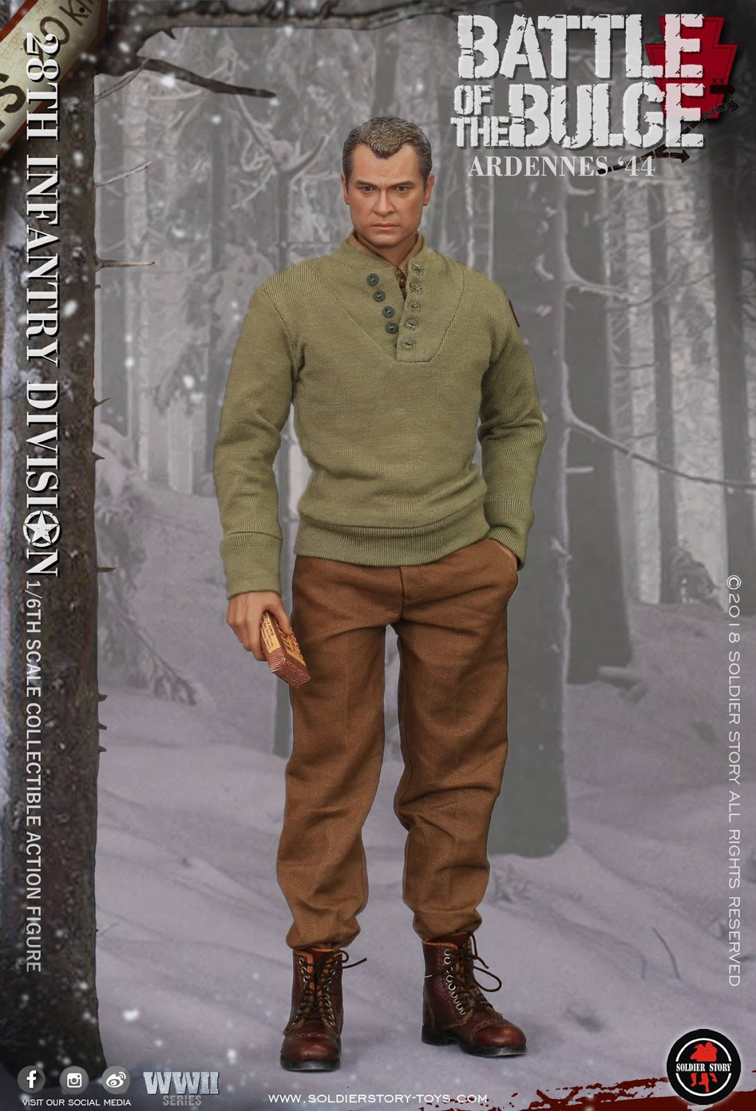 Chocolate Box /& Magazine Battle of Bulge Ardennes 1//6 Scale S Story Figures