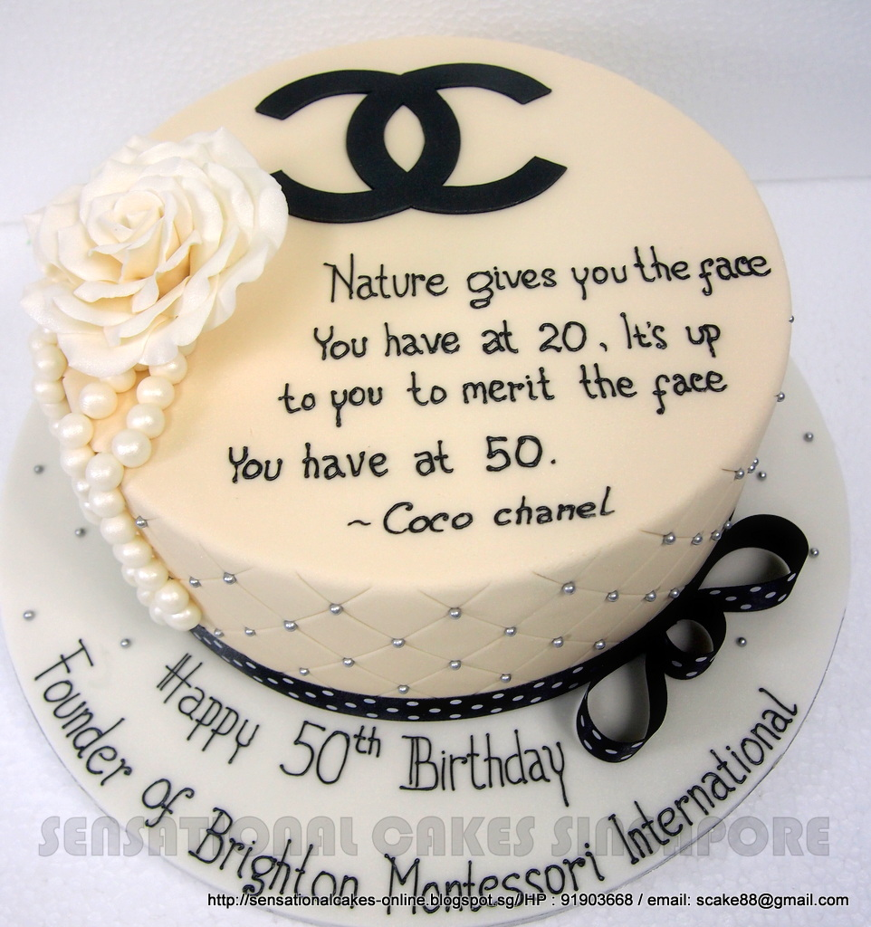 Cakeinspiration Singapore Coco Chanel Cake Singapore Special 50th