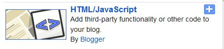 Blogger html/Java Script adding gadget