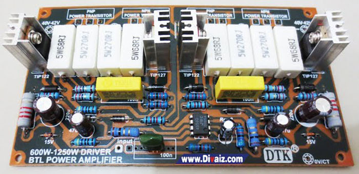 Rangkaian Power Amplifier BTL 600 Watt