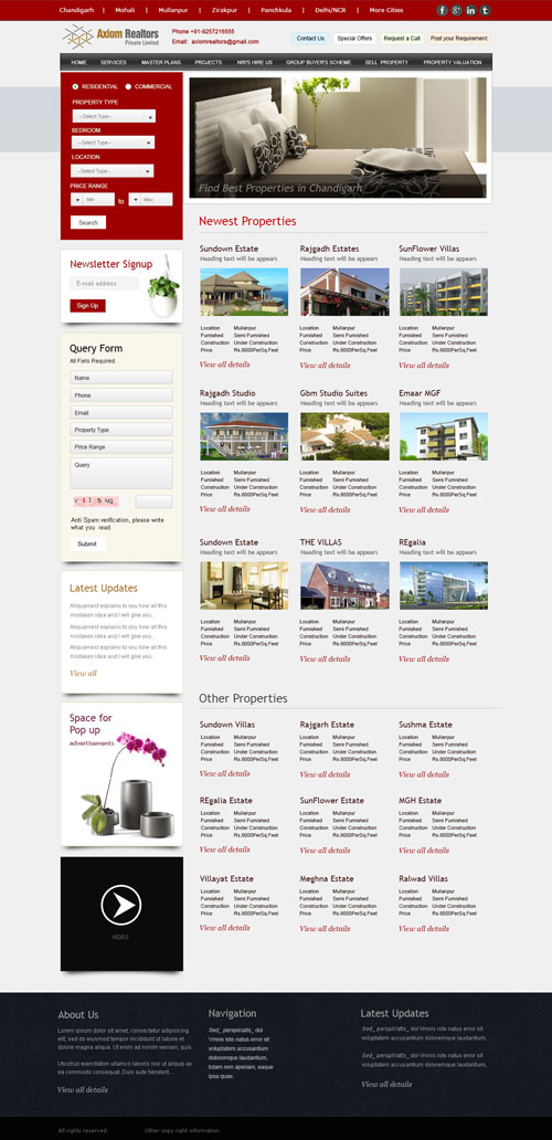 Real Estate Website- Property Portal