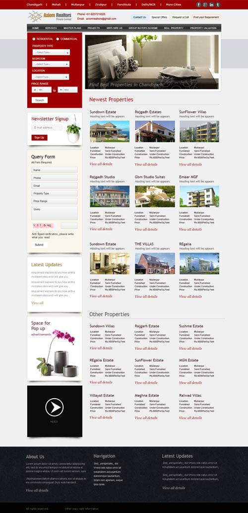 Real Estate Website- Property Portal