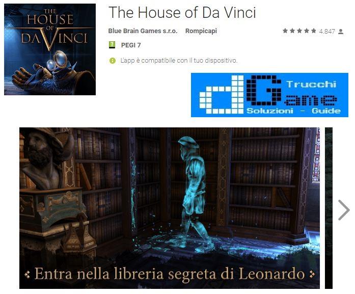 Soluzioni The House of Da Vinci livello 1 2 3 4 5 6 7 8 9 10 | Trucchi e Walkthrough level