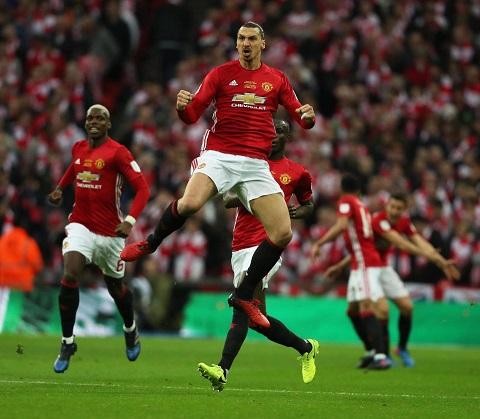 Lão tướng Ibrahimovic ghi nhiều bàn thắng cho Man Utd