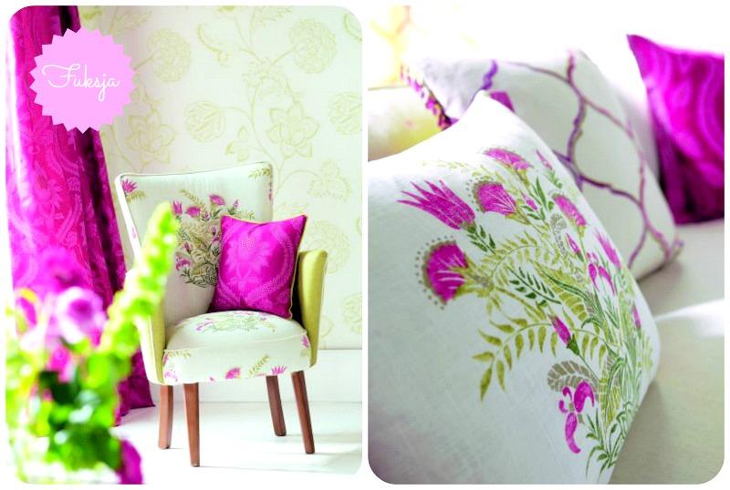 tkanina w kolorze fuksji