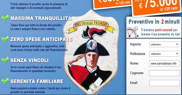 Cessione del quinto per Carabinieri: Convenzione finanziaria