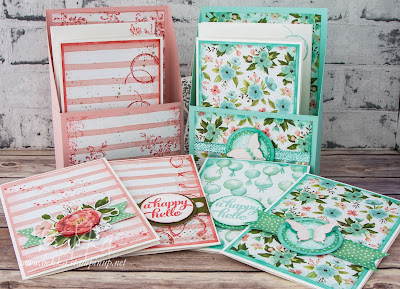 Box Of Pretty Cards for Any Occasion made using Stampin' Up! UK Supplies for National Stationery Week #NatStatWeek