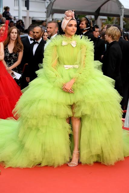 Deepika Padukone in Giambattista Valli at Cannes 2019