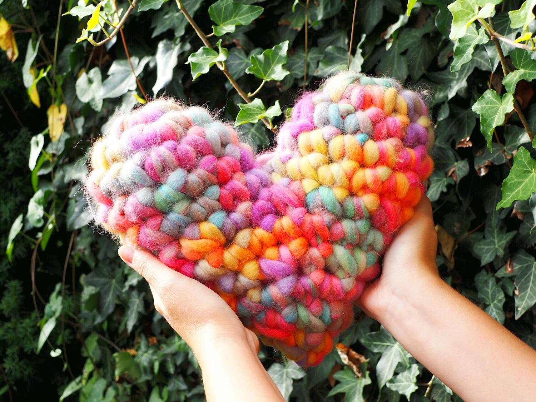 Häkelanleitung für ein großes Herz aus chunky Garn - Smilla von Lang Yarns