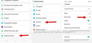 menu sistem aplikasi kamera realme
