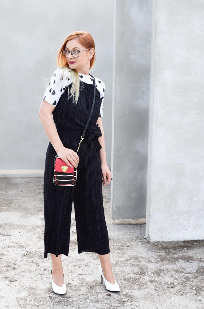 schwarz weiß Outfit, schwarzweiß Look, ü40 Look