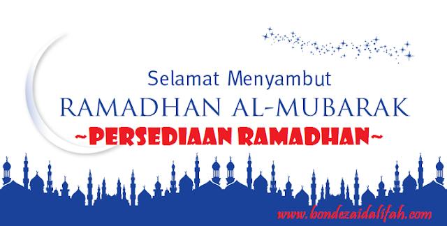 Persediaan Ramadhan