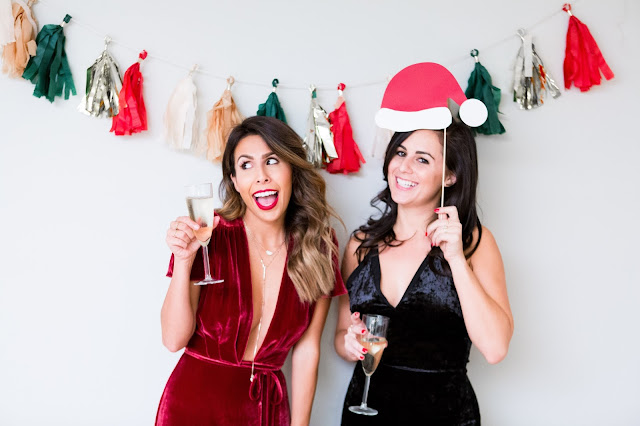 DIY photobooth, how to through a great holiday party, tips for holiday decor