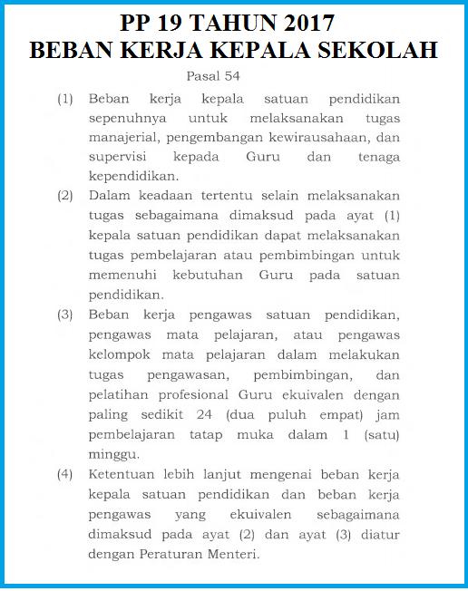 BERDASARKAN PP Nomor 19 TAHUN 2017, KEPALA SEKOLAH BUKAN LAGI TUGAS TAMBAHAN, TIDAK DIBEBANI JAM MENGAJAR TAPI TETAP DAPAT TUNJANGAN PROFESI