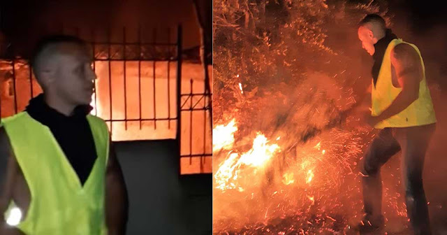 Βουλευτές της ΧΑ έδωσαν ώρες μάχη με τις φλόγες στα πύρινα μέτωπα της Ραφήνας, του Νέου Βουτζά και της Νέας Μάκρης.
