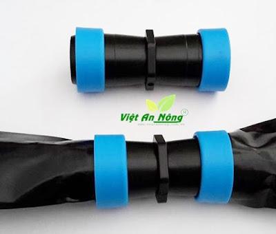 Đầu nối thẳng hai ống phun mưa phi 34