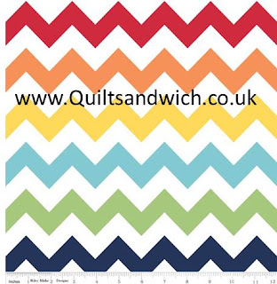 Riley Blake Rainbow Zig Zag www.quiltsandwich extra wide backing fabric