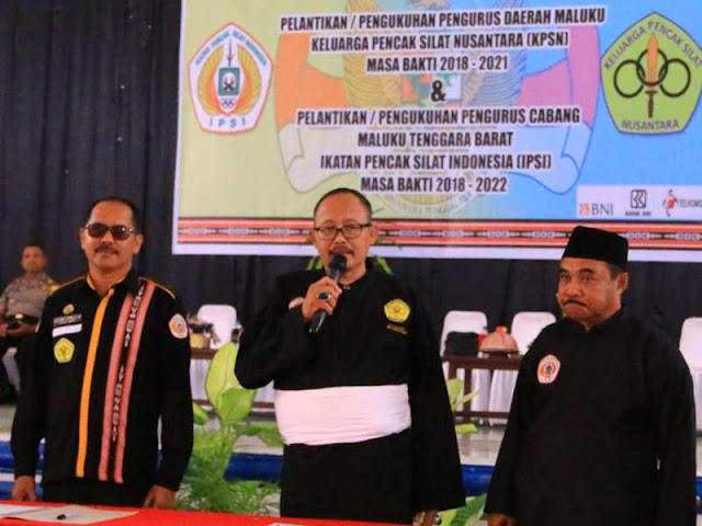 Agustinus Utuwaly Jadi Ketua Keluarga Pencak Silat Nusantara (KPSN) Maluku