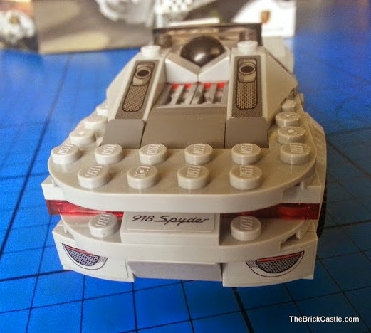 LEGO Porsche 918 Spyder 75910 Hybrid Supercar rear end bumper and spoiler
