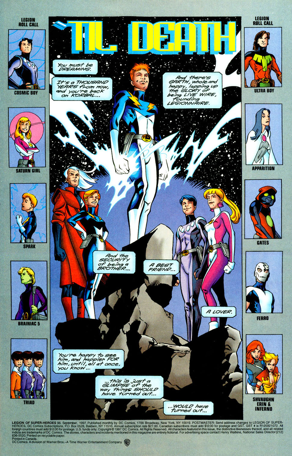 Legion of Super-Heroes (1989) 96 Page 1