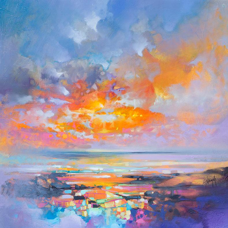 Vibrantes pinturas al óleo de paisajes de Escocia por Scott Naismith