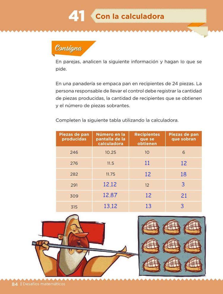 Con calculadora -Desafío 41- Desafíos Matemáticos Quinto grado Contestado