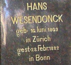 Familiengrab Wesendonck Alter Friedhof Bonn