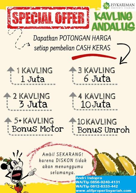 Tanah-dijual-murah-Bogor-Kavling-Andalus-Indopro-(Grand-Andalusia-Village)-Cariu-Kabupaten-Bogor