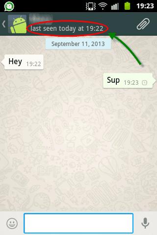 comment ne pas afficher l'heure de connexion sur whatsapp