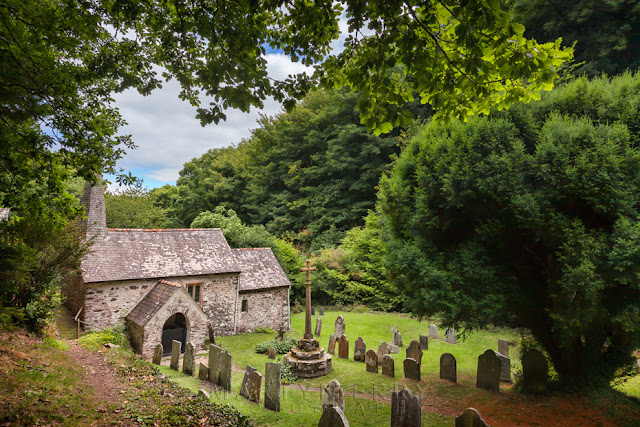 England's smallest church, St Beuno's in Exmoor near Porlock by Martyn Ferry Photography