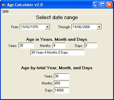 Easy to use your age calculation
