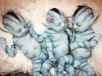 Babies are cute from the blue planet Avatar made viral on Instagram