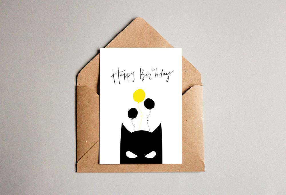 kartka urodzinowa z Batmanem
