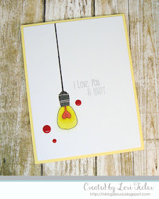 I Love You a Watt card-designed by Lori Tecler/Inking Aloud-stamps from SugarPea Designs