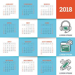 2018カレンダー無料テンプレート021