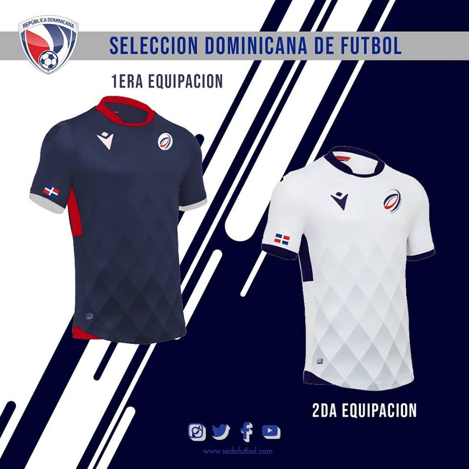 pretty nice c516d 3f0b6 Macron Dominican Republic 2019-20 Home & Away Kits Released ...
