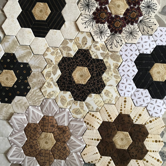 Handpieced Hexagons Have Found A Way Back Into My Heart and My Day.