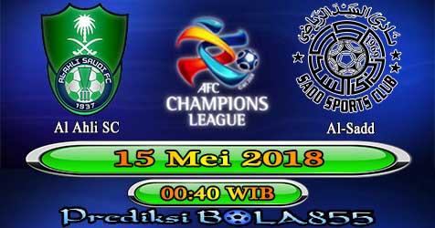 Prediksi Bola855 Al Ahli SC vs Al-Sadd 15 Mei 2018