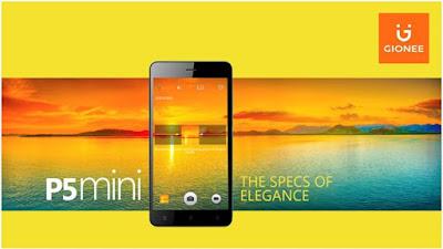p5 Mini Gionee smartphone