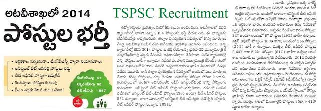 Telangana (TSPSC) Forest Department Recruitment Notification 2017 Apply Online