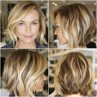 Very Short Blonde Bob Hairstyle