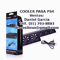 Cooler para PS4, fan cooler extractor de aire, venta stock en Lima Peru