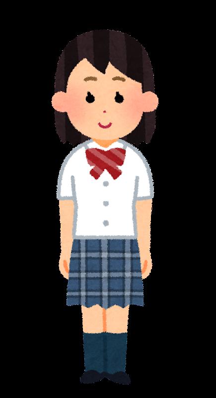 ブレザーを着た女子学生のイラスト 夏服 学生服 かわいいフリー素材集 いらすとや