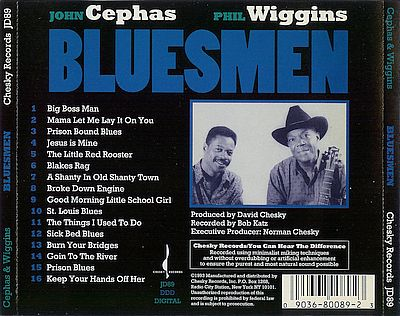 e022ba67ec4482 The BluesGambler  John Cephas   Phil Wiggins 1993 Bluesmen (LL)