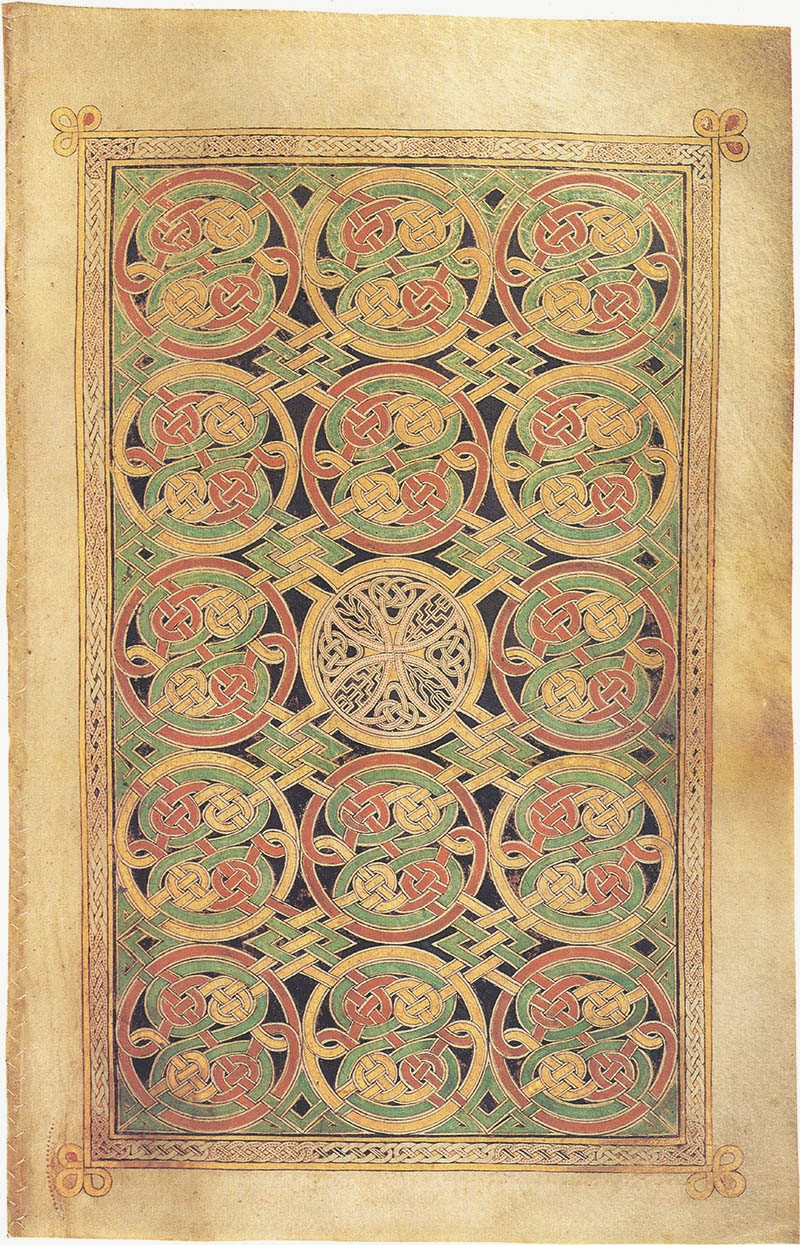 Book of Durrow, MS 57 fol.85v Carpet page preceding St. Mark's Gospel