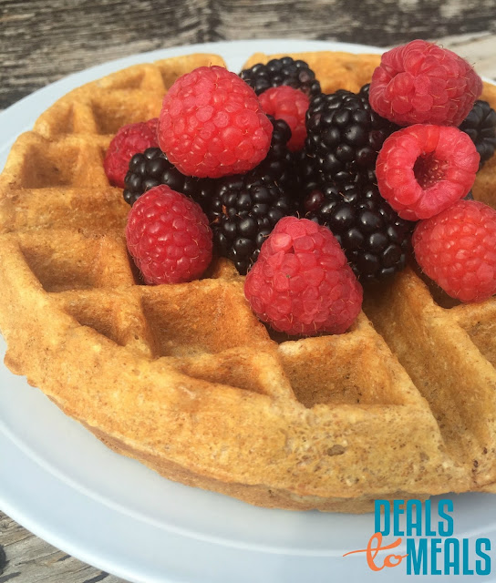 Recipe:  Food Storage, Recipe:  Breakfast, Flashback Friday, healthy, whole wheat waffles, blender wheat waffles, deals to meals, easy wheat waffle recipe