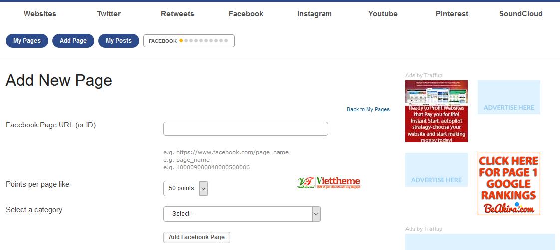 Tăng like Facebook hoặc Subscribe kênh Youtube miễn phí