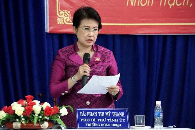 Bà Mỹ Thanh từng là một lãnh đạo của cơ quan Tỉnh ủy Đồng Nai